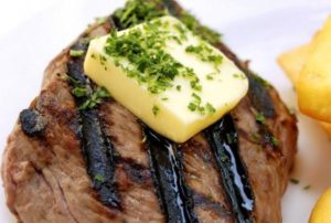 steak with butter