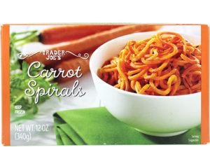 trader joes carrot spirals