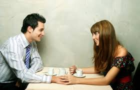 man and women dating