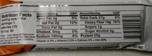 energy bar label