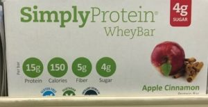 simply protein whey bar