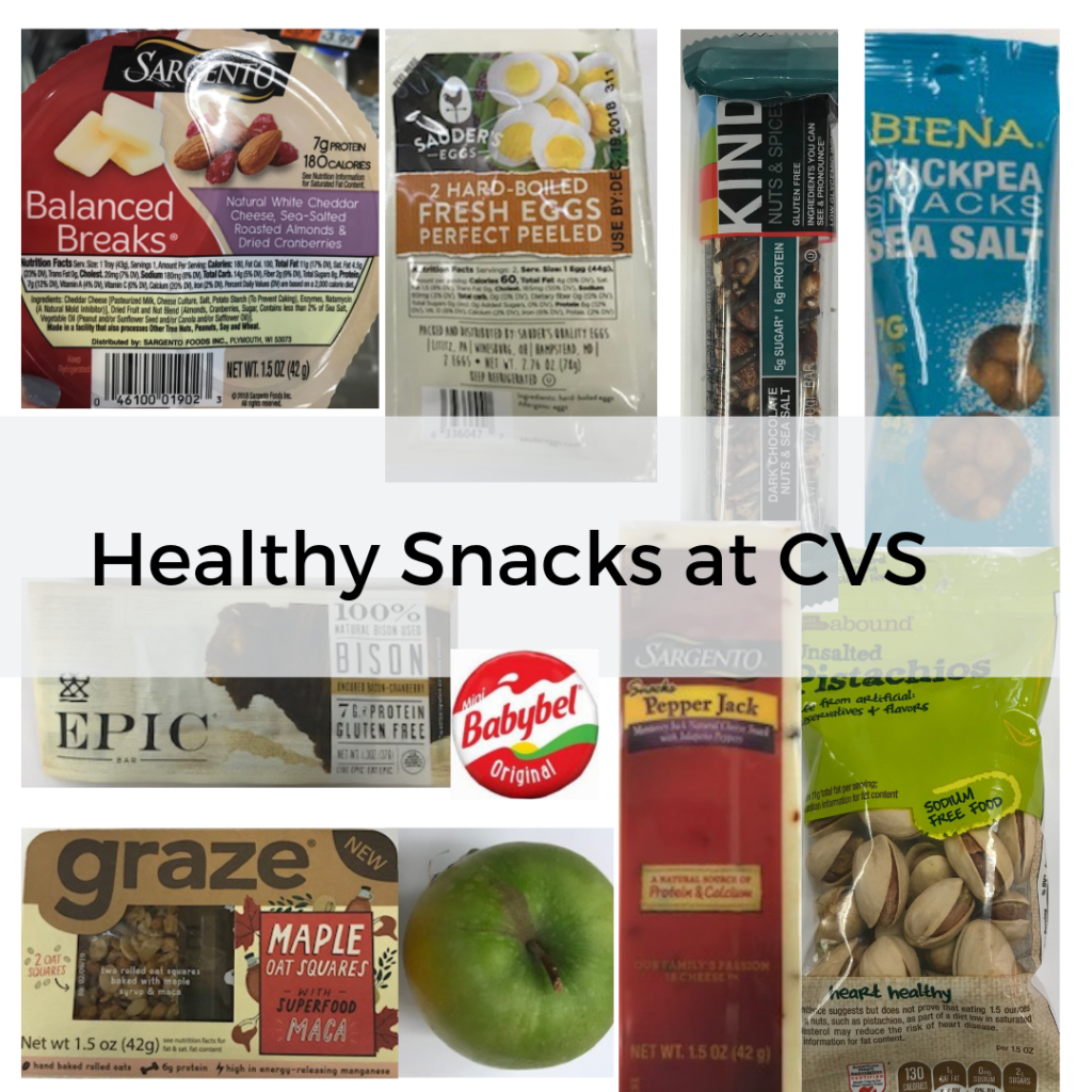 Healthy snacks at CVS and Duane Reade