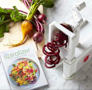 Paderno 4-Blade Spiralizer & Spiralizer Cookbook