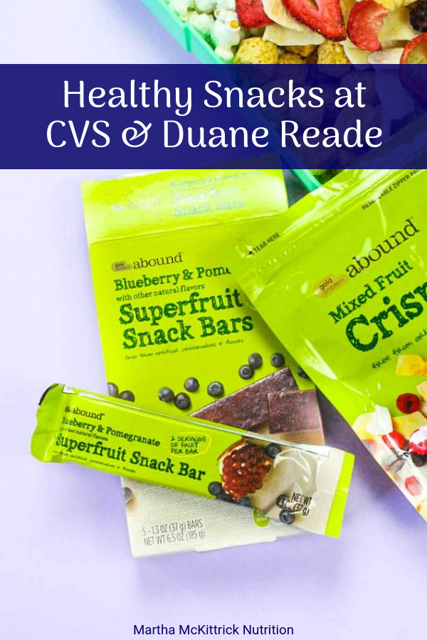 Healthy Snacks at CVS and Duane Reade | Martha McKittrick Nutrition