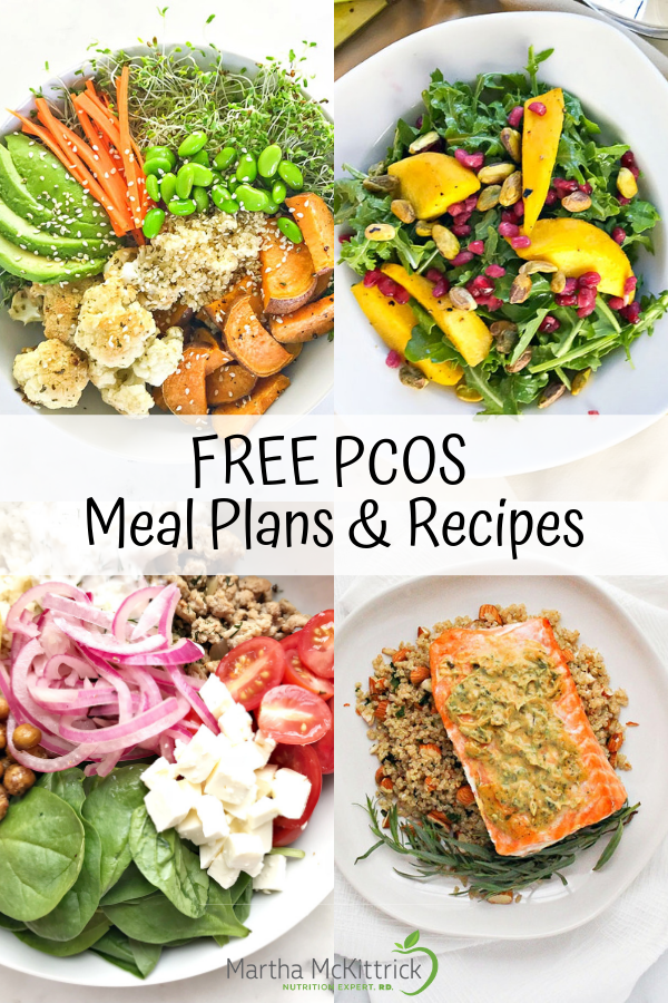 FREE PCOS Meal Plans and Recipes | Martha McKittrick Nutrition