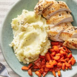 Blue Apron Potatoes, Carrots and chicken